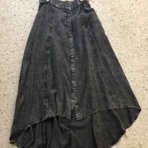 Longer back hem maxi skirt